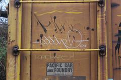 Oddone, Kaze (NJphotograffer) Tags: graffiti graff trackside railroad rail art freight train bench benching moniker hobo marker streaks box car boxcar odd oddone kaze lords crew