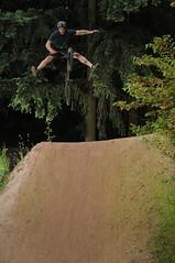 Adam Provo - One Handed No Footer (. o 0 Sam 0 o .) Tags: nikon d300s bmx seattle nw northwest green lake lowerwoodland sb600 vivitar vivitar285hvzoomthyristor 285hv pocketwizard pocketwizards flextt5 minitt1 50mmf18d strobist unedited firstshot dirtjump dirtjumper dirtjumps trails