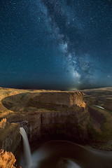 The Milky Way over Palouse Falls, Eastern Washington State (diana_robinson) Tags: themilkyway palousefalls easternwashingtonstate nightphotography stars solitude falls waterfalls washington