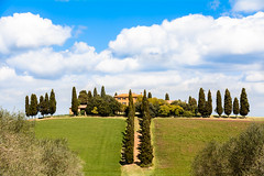 House at Tuscany - San Quirico d'Orcia (andrebatz) Tags: cipestre tuscany toscana italia countryside green hill blue skies old house path nature farm wine winery san quirico dorcia landscape trees garden dolce vitta nikon d7100 sigma lens 18 300 mm