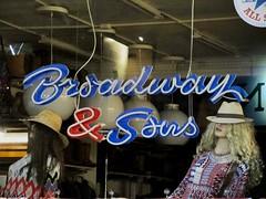 Sign and mannequins in window, Broadway & Sons, Gothenburg, Sweden (Paul McClure DC) Tags: gothenburg göteborg sweden sverige july2015 shopwindow mannequin