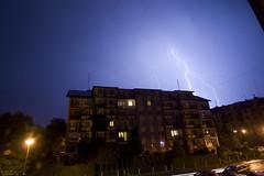 Stormy night (wlodasek) Tags: cloud clouds storm thunderstorm burza chmura chmury shelf szelf debica polska podkarpacie 2016 2017 summer panorama sky niebo wiev widok