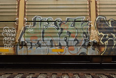 DONE (TheGraffitiHunters) Tags: graffiti graff spray paint street art colorful freight train tracks benching benched racks autoracks done