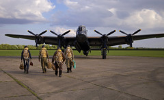 'Lancaster Departure' (andrew_@oxford) Tags: raf east kirkby lincolnshire aviation heritage centre 1940s avro lancaster bomber command royal air force reenactors reenactment timeline events