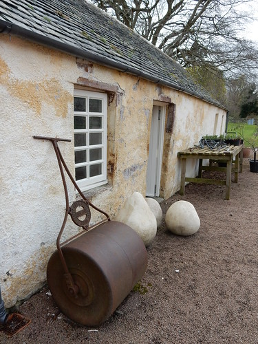 Assorted garden decor, Fyvie Castle