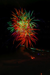 59 (morgan@morgangenser.com) Tags: pacificpalisaddes beach belairbayclub blue celebrate fireworks color iso100 july3rd loud nikon night ocean orange pch people red reflection special spectacular streaks timeexposire tripod yellow amazing