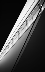 Half Remembered Dream by Simon & His Camera (Simon & His Camera) Tags: bw blackandwhite contrast diagonal white black architecture abstract composition indoor london lines monochrome simonandhiscamera urban light shade dark shadow city geometric lookingup window