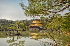 The Golden Temple - Kyoto (dompye) Tags: japan longexposure sky blue yellow white holiday landscape travel kinkaku kinkakuji kyoto goldentemple