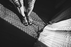 Haute Couture :-) (petrapetruta) Tags: bw blackandwhite shadows lights contrast feet