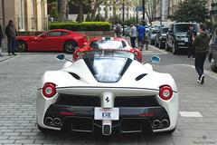 People Everywhere... (Beyond Speed) Tags: ferrari laferrari supercar supercars car cars carspotting nikon v12 matte white london knightsbridge automotive automobili auto