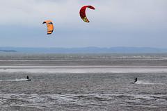 kite surfing 7 (Lord Edam) Tags: sea coast coastline beach river sand rocks llandudno conwy clouds waves mountains groyne kite surfing kitesurfing actionsports