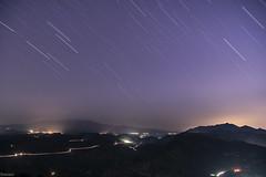 Night lights (Siminis) Tags: siminis heraklio crete greece longexposure trails startrails lights nightlights starrynight stars nightsky singleshot mountains