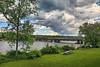 New Bridge over the Mohawk River (hbickel) Tags: bridges trussbridge bridgegirders mohawkriverlandscape mohawkriver highdynamicrange hdr photoaday pad clouds