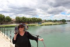 Mum on  Pont d'Avignon (ec1jack) Tags: ec1jack kierankelly canoneos600d france provence europe eu june 2017 southoffrance summer pont davignon avignon river rhone bridge