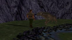 Conversing with the Beast #1 (BarricadeCaptures) Tags: kings quest mask eternity kingdom daventry connor pathetic beast unicorn poisoned pond video game screen capture screenshot screencap