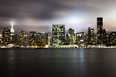Manhattan Skyline at Night (stephen_tvedt) Tags: newyorkcity newyork newyorkphotography longexposure night nightphotography city cityscape lic longislandcity east river motionblur eastriver midtown unitednations architecture skyline buildings empirestatebuilding empirestate ny