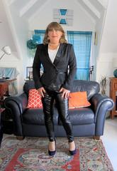 New Jacket & leather (Trixy Deans) Tags: crossdresser cd cute crossdressing leather trousers tightjeans jacket jeans xdresser sexy sexytransvestite sexyheels sexylegs tgirl tv transvestite tranny shemale shemales