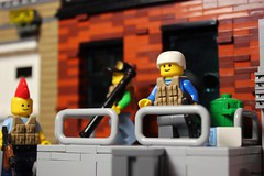 Some members of the crew... (Devid VII) Tags: lego devidvii moc diorama details devid vii detail military crew post apoc war happiness minifig minifigs minifigures weapon weapons happy smile scene second