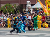 Colours with Spears (djking) Tags: alberta spears canada chineeseculturalcenter martialarts calgary canadaday