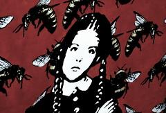 Graffiti Girl (SophieBalcombe) Tags: amsterdam nikond5100 nikon europe architecture netherlands grafitti bees red girl art student hotel