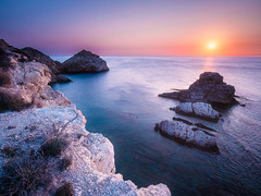 Cap Prim (Timothy Gilbert) Tags: jávea wideangle ultrawide panasonic calabarraca olympus918mmf4056 boulders rocks xàbia spain mediterraneansea nikcollection coast sunrise gx8 capprim ortoneffect