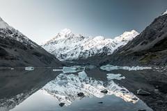 Aoraki / Mt. Cook - New Zealand (Max Pa.) Tags: aoraki mountain mount cook newzealand new zealand neuseeland berg berge mountains natur nature nationalpark national park canon 5d winter snow blue landscape landschaft 2470mm