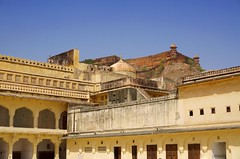 Amber fort in many levels up this hill (PsJeremy) Tags: jaipur india amberfort