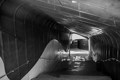 descent (Rudy Pilarski) Tags: séville voyage travel bw nb courbes light lumière thebestoffnikon nikon d7100 18270 tamron form shape ligne abstract abstrait architecture architectura escalier