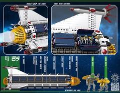 Queen Aurora 30 (messerneogeo) Tags: messerneogeo robot mech mecha queen aurora ninja ganzo spaceship battleship lego