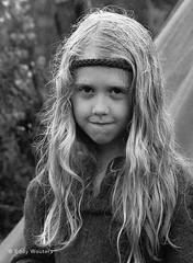 The rain (wouters.eddy) Tags: monochrome black white portrait viking lagertha sweden scandinavia history foteviken
