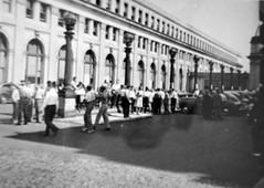 Cabbies picket at Union Station: 1946 (washington_area_spark) Tags: taxi strike work stoppage holiday job action 1946 union station washington dc picket line operators drivers garage employees teamsters labor wave