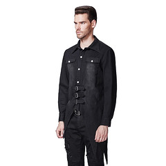 2017 Casual Punk Mens Bat Shirt With Single Breasted Gothic Irregular Black Blouses_01 (punkpartydress) Tags: 2017 casual punk mens bat shirt with single breasted gothic irregular black blouses