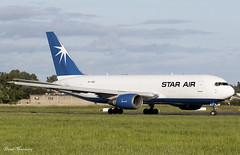 Star Air 767-200F OY-SRJ (birrlad) Tags: shannon snn international airport ireland aircraft aviation airplane airplanes airline airliner airways airlines taxi taxiway takeoff departing departure runway cargo freight freighter transport boeing b767 b762 767 767200 76725ebdsf oysrj star air whitestar dublin