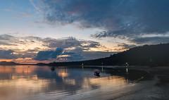 Sunrise over the Andaman Sea (Merrillie) Tags: holidays resort sunrise pier wharf coconutisland phangngabay clouds phuket andamansea travel kohmaphrao island water waterscape sea thevillagecoconutisland landscape thailand