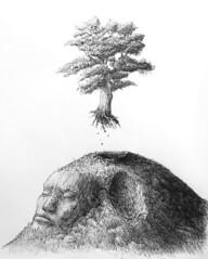 Oak Flight - Vuelo del Roble (Marcos Telias) Tags: art roble oak árbol dibujo illustration sketch tree drawing ilustración boceto bosquejo arte artista artist ballpoint bolígrafo pen lápiz fantasy