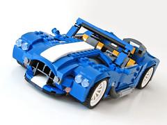 31070 Retro Roadster front (NKubate) Tags: lego creaor alternate alternative 31070 shelby cobra corvette roadster retro nkubate nathanael kuipers