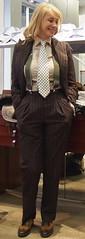 Sonya (bof352000) Tags: woman tie necktie suit shirt fashion businesswoman elegance class strict femme cravate costume chemise mode affaire