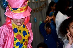 Pink it up (Moshi!) Tags: birthday party nephew one being an aunty fun dance occasion face painting dressup pink clown people colourful kids children enjoying letitgo
