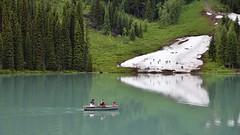 Ski or row (naromeel) Tags: banff canada nature reflection