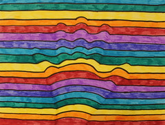 Main tendue (GéCau & Cie) Tags: melissa hand color effet optique line art arcenciel rainbow