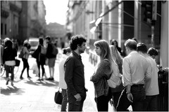 you and me (GiophotoArt) Tags: couple coppia lovers streetphotography sguardi bn bolognacentro