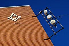 Masonic Lodge, Russell, KS (Robby Virus) Tags: russell kansas ks masonic freemasons masons sign signage fraternal organization lodge temple