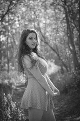 Black & White Will Do (Luv Duck - Thanks for 13M Views!) Tags: erin beautifulgirl beautifulbody curlyhair curvy alaskangirls anchoragegirls girlintheforest girlinthewoods alaska attractive naturalbeauty