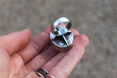 exploration (ashleyweber) Tags: ashley weber ashleyweber ashleyweberdesigns handmade exploration hollow form metalsmith jewelry silver tribal plus sign agate