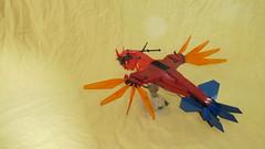 Predator Fire Commander (ba5t4rdof1962) Tags: moc scifi space vtol lego flying alien minifig air dragon future fantasy red