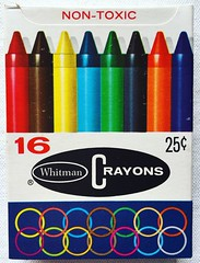 Whitman Crayons (1960s) (Christian Montone) Tags: 1960s illustration vintage graphics graphicdesign crayons vintagecrayons whitman artsupplies