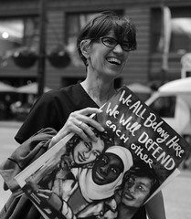 Street Portrait @ Anti-Bigotry Rally- Downtown Chicago - 22 Jun 2017 - 5D IV - 122 (Andre's Street Photography) Tags: chicago22jun20175div weallbelonghere chicago downtown chitown loop federalplaza rally protest demonstration discrimination freedom freedomofreligion pro diversity antitravelban antidiscrimination defend wewilldefendeachother street straat straatportret straatfotografie streetportrait streetphotography strasse strada lacalle larue fotografiadistrada zwartwit schwarzweiss bw bwphotography blackandwhte noiretblanc blancoynegro stad stadt city people portrait urban urbanlife streetlife happening antibigotry photobyandrevanvegten chicagoist chicagotribune chicagomagazine chicagoreader chicagojournal dutchstreetphotography chicagostreets chicagostreetphotographer vivianmaiersstyle robertfranksworld tributetoedvanderelsken dedicatedtodianearbus canon eos 5d 5div ef50mmf18stm prime lens primelens efprime 50mm