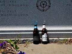 Congressional Cemetery Jun 10, 2017, 12-069_sharing (krossbow) Tags: iamluckydog congcemetery dcluckydog burialplot cenotaph congressionalcemetery dc districtofcolumbia dogpark gravemarker gravestones headstones luckydoganimalrescue lumix markers panasonic party photolemur rescuedogs stones tombstones tz90 washington washingtonparishburialground zs70 beer
