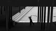 Dancing in the shadow (bencze82) Tags: dancing shadow budapest keletipályaudvar barosstér canon eos 700d voigtländer color ultron 40mm monochrome hungary summer nyár