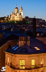 Montmartre (A.G. Photographe) Tags: anto antoxiii xiii ag agphotographe paris parisien parisian france french français europe capitale d810 nikon nikkor 70200vrii sunset bluehour sacrécoeur montmartre
